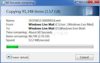 Cara mengubah folder penyimpanan email di Windows Live Mail