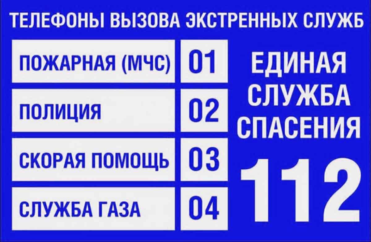 Номера телефонов экстренных служб для звонков с городского телефона