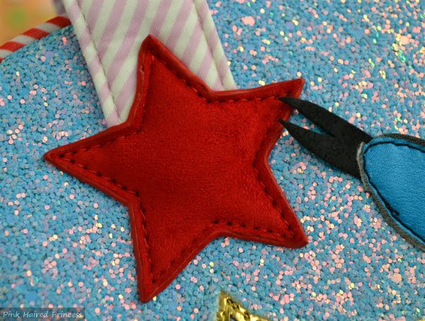 irregular choice whoa bag red star detail