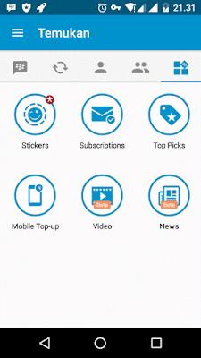 Cara Nonton TV di aplikasi BBM Android
