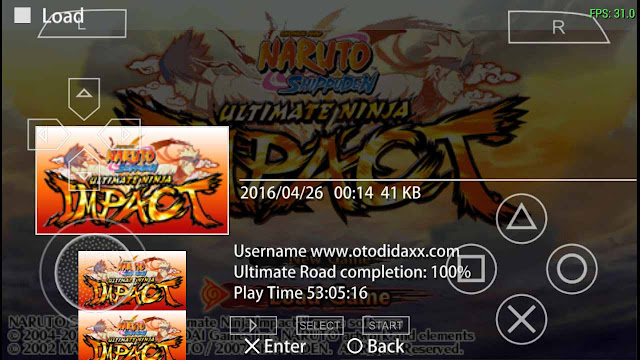 Save data naruto ultimate ninja impact ppsspp android