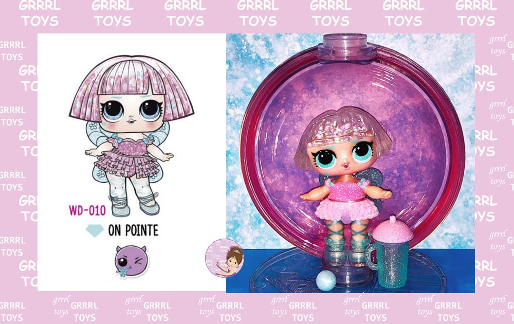 On Pointe Glitter Globe series 010 ballerina doll Winter Disco