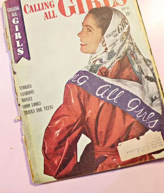 1940s teen magazine calling all girls
