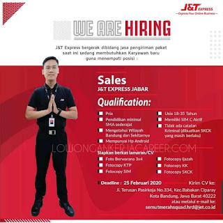 Lowongan Kerja J&T Express Bandung Terbaru 2020