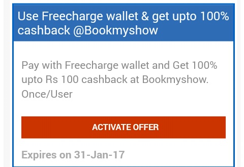 Bookmyshow active coupons