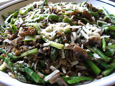 Wild Rice and Asparagus Salad