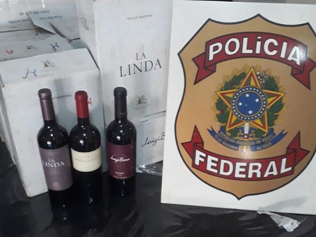 Operação da PF apreende 660 garrafas de vinho contrabandeado