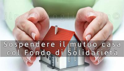 fondo solidarietà sospensione mutuo