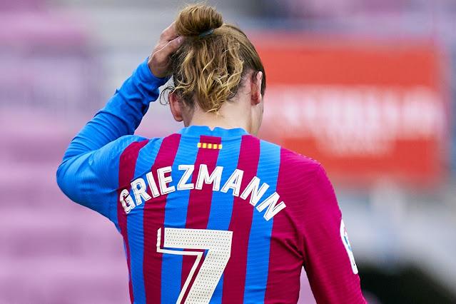 Antoine Griezmann in Barcelona kit