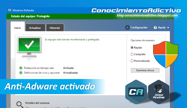 Habilitar la función Anti-Adware de Windows Defender en Windows 10