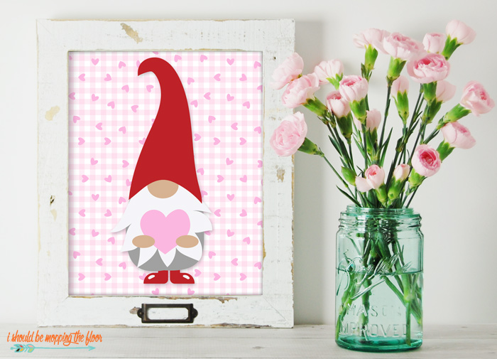 Valentine Gnome Printable
