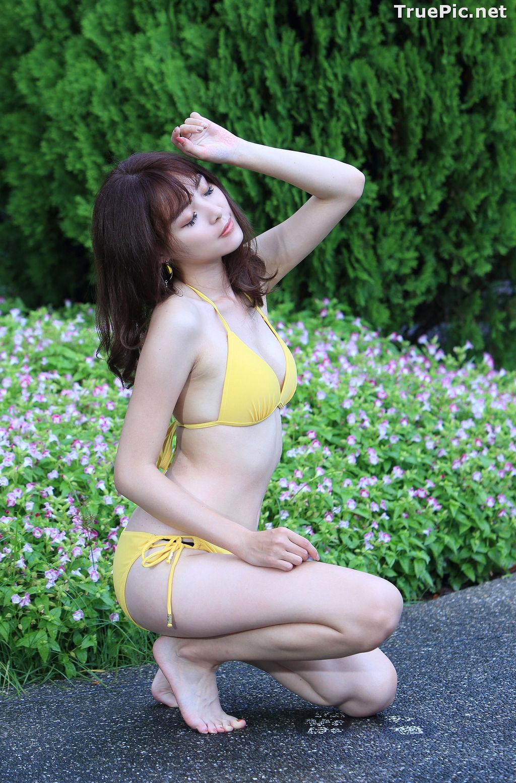 Image Taiwanese Model - Ash Ley - Yellow Bikini at Taipei Water Museum - TruePic.net - Picture-46