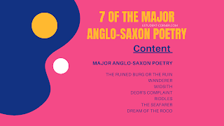 7 Major Anglo-Saxon poetry , old english poetry