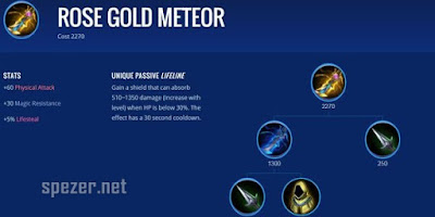 Rose Gold Meteor - Item Game Mobile Legends