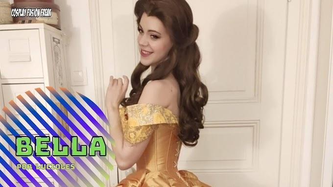 LucioleS con su cosplay de Bella de La Bella y la Bestia