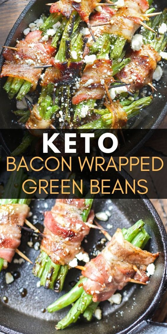 Keto Bacon Wrapped Green Beans