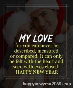 Romantic Happy New Year Messages Wishes for Girlfriend & Wife