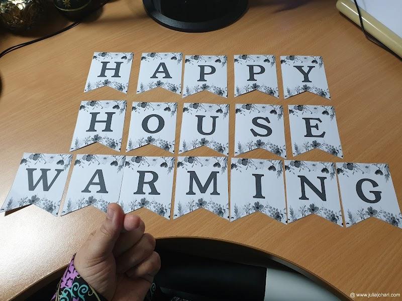 Pre persediaan House Warming dan Birthday Treat, oh tak sabarnya party !