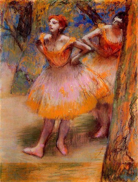 Эдгар Дега - Две танцовщицы (1893-1898)