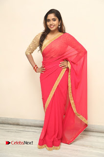 Actress Karunya Chowdary Pictures in Red Saree at Neerajanam Audio Launch  0121.JPG