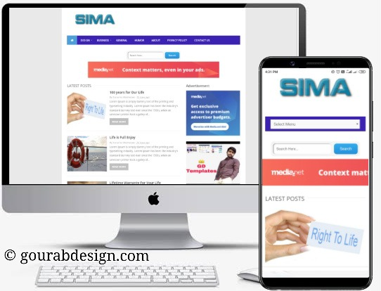 sima blogger template