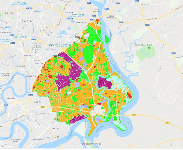 Xem bản đồ quy hoạch quận 9 trực tiếp trên google map