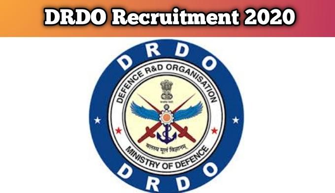 DRDO Recruitment 2020 | Apply for Jr. Research Fellow Jobs