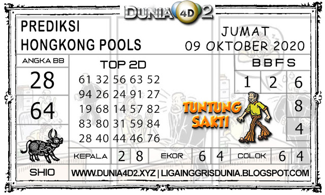 Prediksi Togel HONGKONG DUNIA4D2 09 OKTOBER 2020