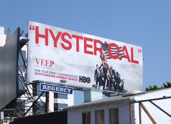 Veep Hysterical Emmy 2017 nominations billboard