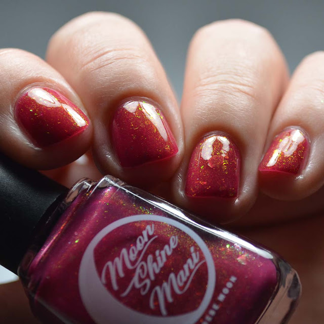 beet red nail polish shifting shimmer swatch