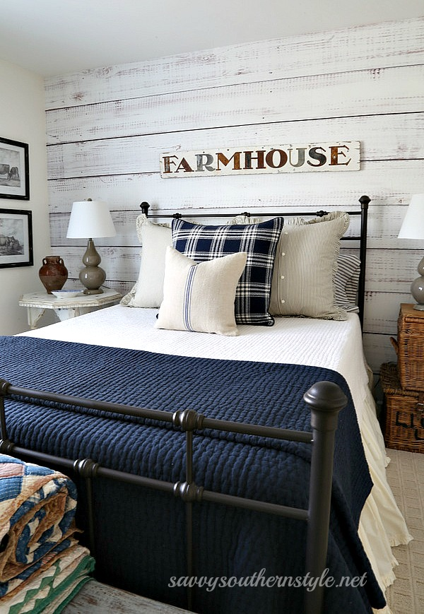 This Iron Bed I Found On Overstock Was My First Metal Purchase And Perfect For Farmhouse Style Guest Bedroom