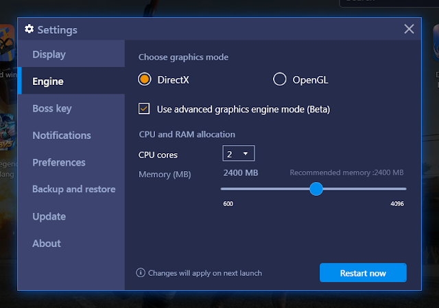 Switch your Bluestacks 4 rendering engine from OpenGL to DirectX and Bluestacks 4
