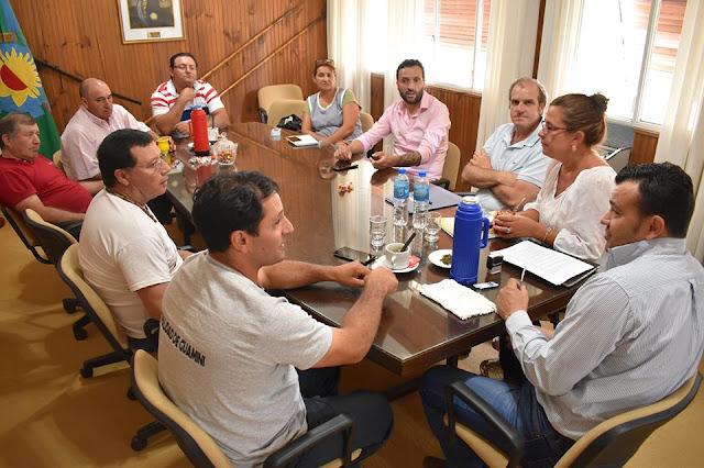 EL JEFE COMUNAL Y LOS GREMIOS ACORDARON UN NUEVO INCREMENTO PARA LOS TRABAJADORES MUNICIPALES