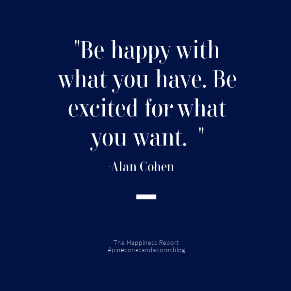 Happiness quote on a blue background