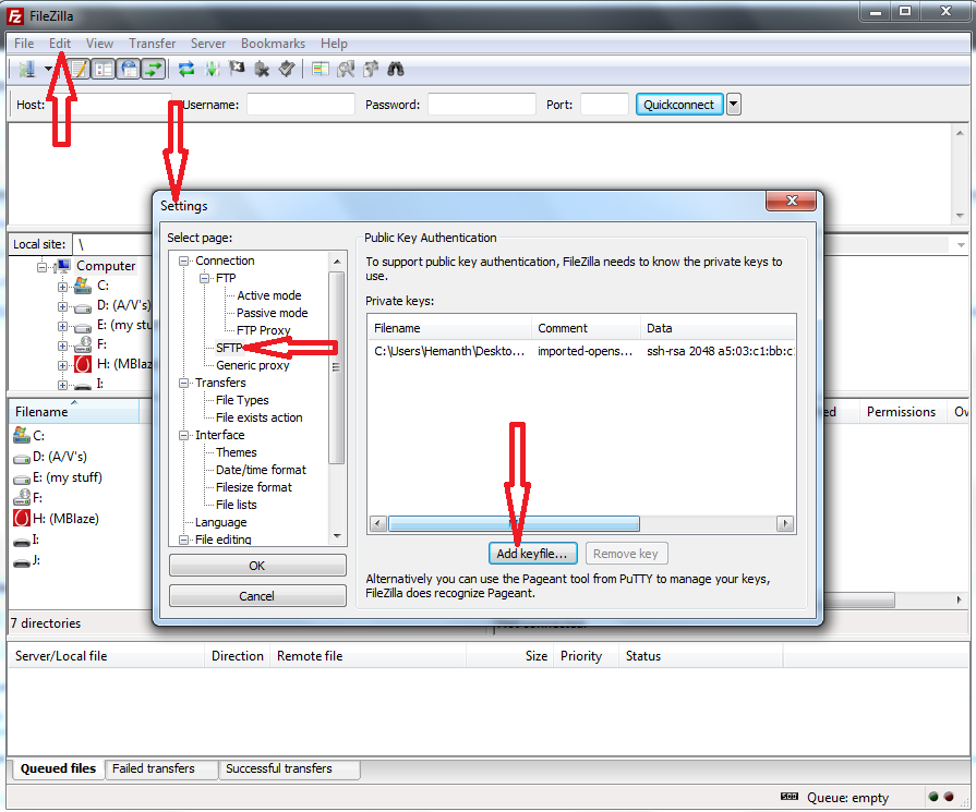 how to open ppk file
