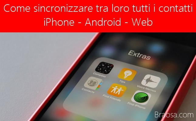 Come sincronizzare tra loro tutti i contatti iPhone Android e web