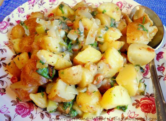 Old-Fashioned Hot German Potato Salad Recipe – Unsophisticook  German Hot Dish