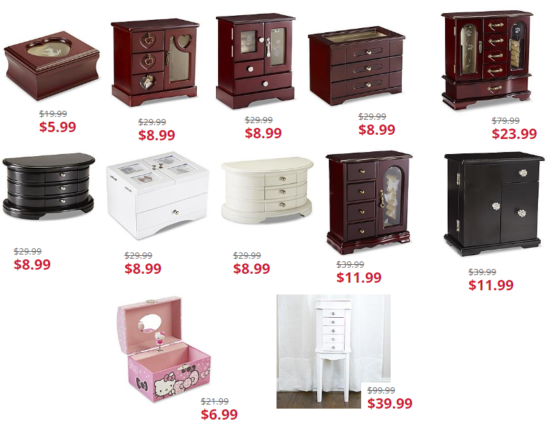 f848cf97d82f Jewelry Box Sale From $5.99 + Free Store PIckup at KMart or Free Shipping  With Shop Your Way Max. Jaclyn Smith Wood Jewelry Boxes $8.99, Kids' Hello  Kitty, ...