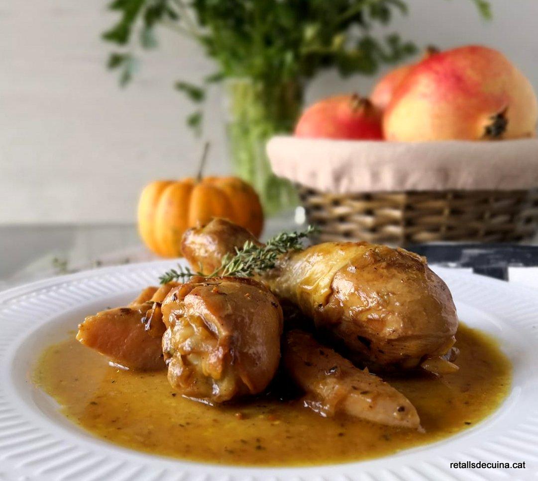 Cuixetes de pollastre amb codony