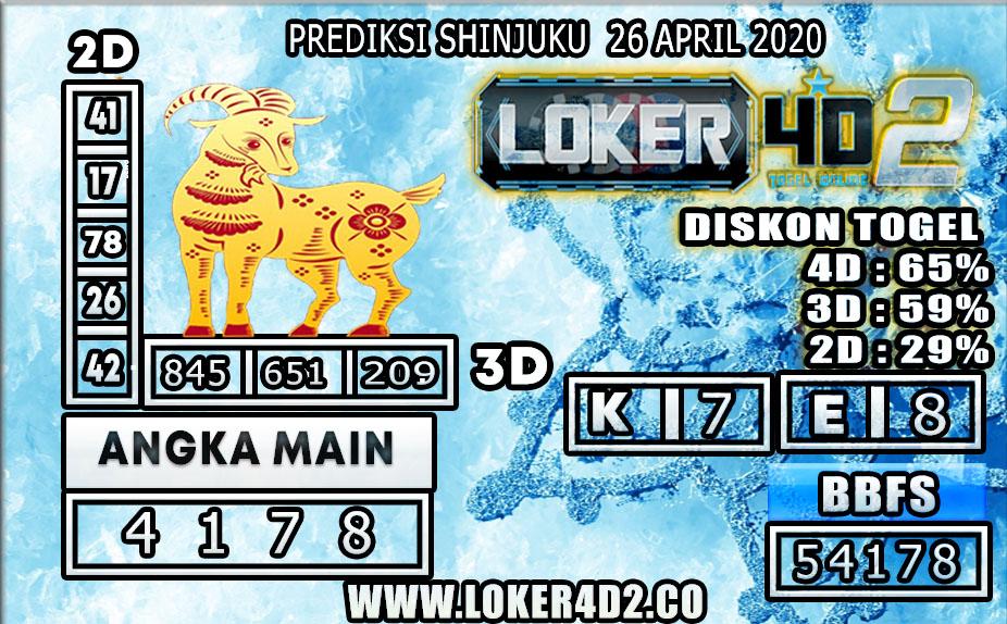 PREDIKSI TOGEL SHINJUKU LUCKY 7 LOKER4D2 26 APRIL 2020
