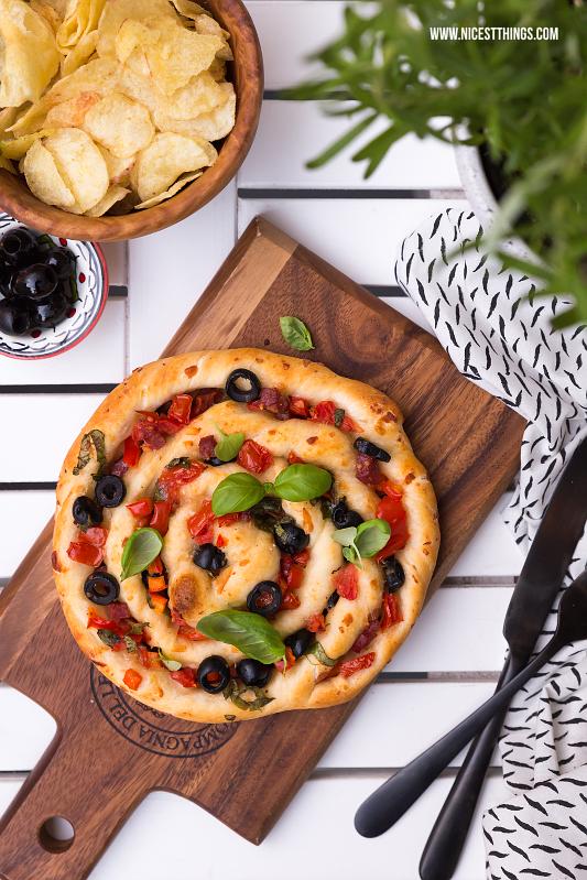 Pizza Spirale, gedrehte Pizzaschnecke