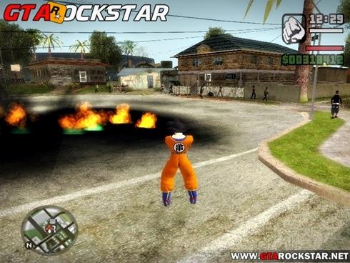 Mod Se transformar no Goku + Poderes V3.0  para GTA San Andreas