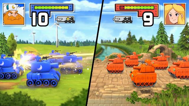 Black infantry tanks Advance Wars Reboot Camp Nintendo Treehouse Live E3 2021
