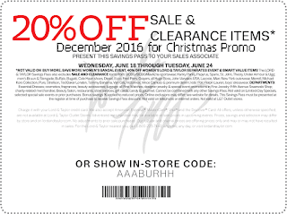 Lord & Taylor coupons december