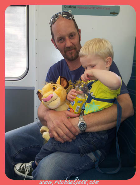 Last weekend, quite possibly the hottest day of the year so far, we decided to take Max on a train for the first time.