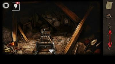 бутылку с лампой вместе соединяем в игре выход из заброшенной шахты
