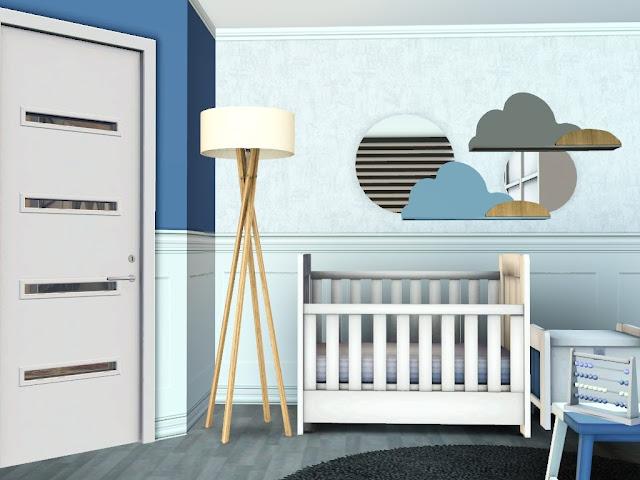 chambre bébé bleu et blan sims 3