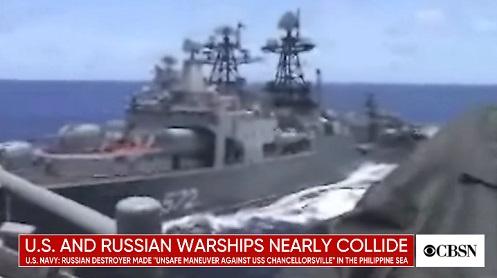 """""""Tensão no Mar das Filipinas"""" Destróier Russo quase Colide com Navio de Guerra dos EUA"""