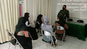 Koramil 1106 / Malangbong Garut bantu pelajar dalam KBM melalui Daring diwilayahnya