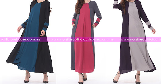 NBH0570 JUBAH LAILA (MATERNITY, PLUS SIZE, NURSING & WUDHUK FRIENDLY)